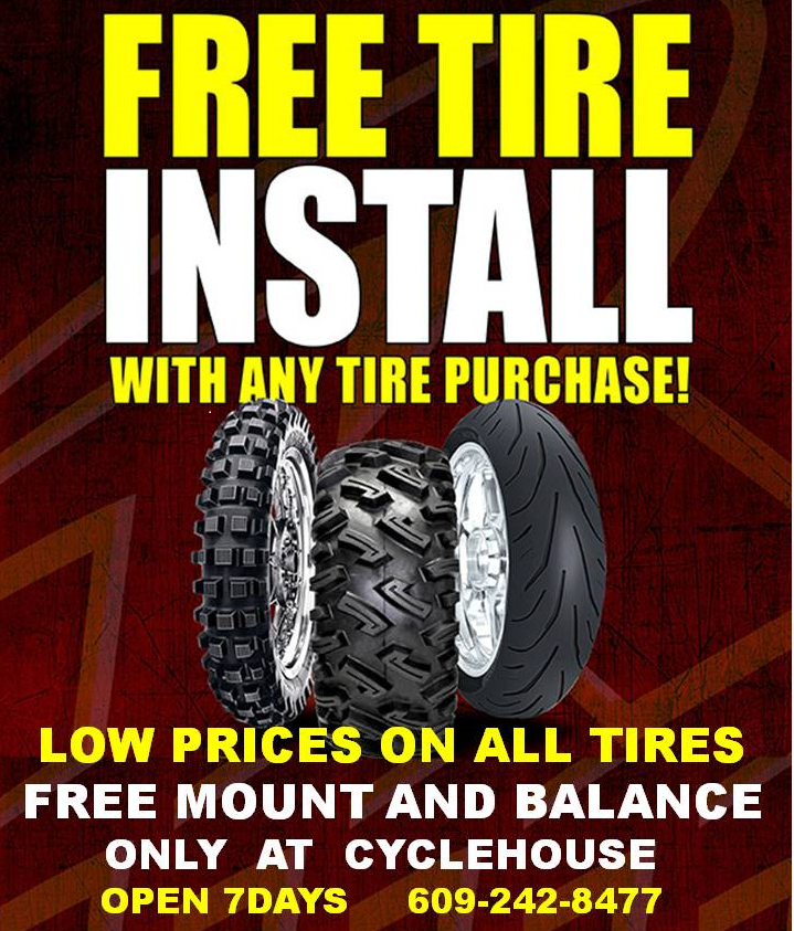 Free Tire Install For All Tires Purchased At Cyclehouse